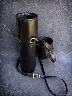 Мужские сумки ручной работы. Заказать Тубус кожаный мод.3, защитный, для оружейной оптики. Labour. Ярмарка Мастеров. Черный