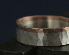 Revolution RingTwo Tone Hammered Ring-14K Gold by RevolutionBA