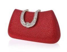 5c863c6d74 VOCHIC Glamour Rhinestone Hard Case Evening Clutch Purse Red Clutch Purse, Clutch  Bag Pattern,
