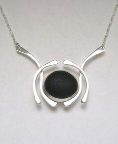 Sea Glass Jewelry Sterling Rare Black English by SignetureLine