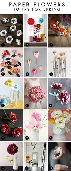 a whole bunch of paper flower diys [The House That Lars Built.: Best paper flowers]