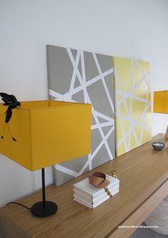 x4duros.com: DIY: Lienzos con cinta de carrocero