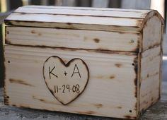 Personalized treasure chest card box