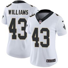 Women's Nike New Orleans Saints #43 Marcus Williams Limited White NFL Jersey