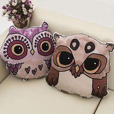 3D owl throw pillow for sofa animal plush toys