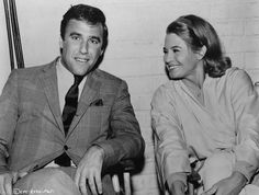 Burt Bacharach visits wife Angie Dickinson on the set of The Chase, 1966