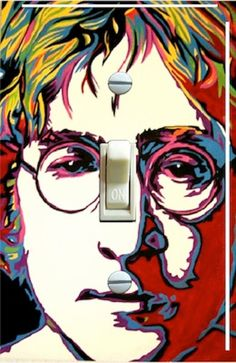 John Lennon Pop Art, Switch Plate  Cover, Wall Plate, Single