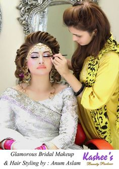 Kashee's Beauty Parlour Bridal Make Up Bridal Makup, Pakistani Bridal Makeup, Bridal Beauty, Bridal Hair, Down Hairstyles For Long Hair, Wedding Hairstyles, Bridal Makeover, Wedding Costumes, Girls Makeup