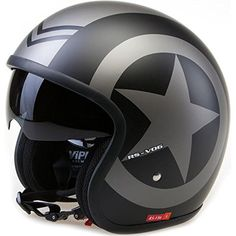 Viper RS-V06 £49.95 Open Face Motorcycle Helmet - Matt Black Star - (59-60cm) Large Viper http://www.amazon.co.uk/dp/B011LPZEPS/ref=cm_sw_r_pi_dp_LpYzwb147YHAB