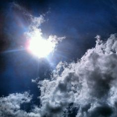 Sky and clouds in Lake Winnipesaukee