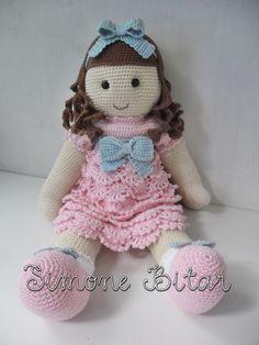 LANCAMENTO!!!!!! Boneca Lilly Amigurumi. Linda, fofa e super estilosa... estou IN LOVE...  diz aí se não é apaixonante?   Lá na Lojinha já tem disponível para encomenda, passa lá: www.recanto.loja2.com.br