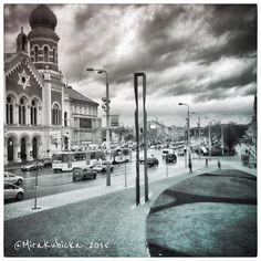 Rain in PilsenCzech Republic #rain #plzeň #plzen #pilsen #pilsnerurquell #synagogue #art #architecture #history #heritage #street #garden #sculpture #statue #tram #cz #czech #czechia #czechrepublic #czechdesign #česko #české #českárepublika #city #2015