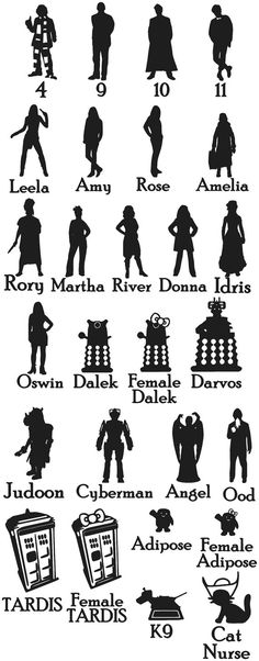 Ragan -- these are pretty fabulous. You can pick the ones you want!!  Enemies of The Doctor Car Sticker set of 4 by EpicFamilyDecals, $10.00