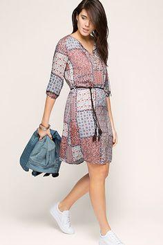 Esprit / Lejąca sukienka w patchworkowym stylu