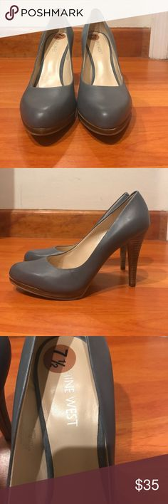 NINE WEST GRAY PUMPS Never used Nine West gray pumps. No box Nine West Shoes Heels