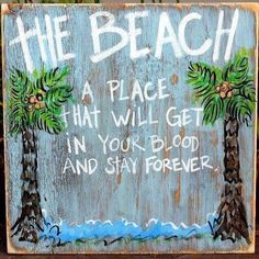1 X Beach Word Sign - Tropical Beach Decor - Great for Office - Table Top or Wall Hanging - Long Tall - Home Style Corner Coastal Style, Coastal Decor, Beach Words, Beach Quotes, Ocean Quotes, Beach Signs, Rustic White, Beach Crafts, Seashell Crafts