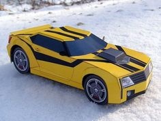 Transformers Prime Bumblebee Camaro Papercraft