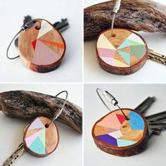 beautiful-colorful-Accessories-for-key-chains-of-key-from-wood-sel . - : beautiful-colorful-Accessories-for-key-chains-of-key-from-wood-sel . Diy And Crafts, Crafts For Kids, Father's Day Diy, Ideas Geniales, Fathers Day Crafts, Nature Crafts, Diy Wood Projects, Cool Ideas, Design Your Own