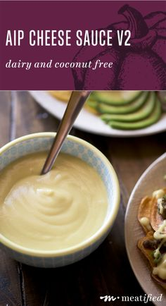 This rich, creamy AIP Cheese Sauce from http://meatified.com is dairy and coconut free! Use it to jazz up roasted veggies or drizzle it over nachos, burgers, taco salads and more.