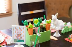 Carrot Patch Easter Table Decorations