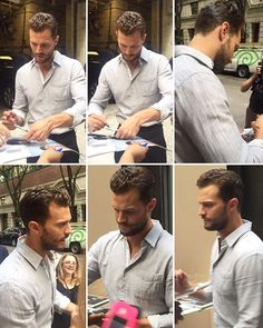 NEW: Jamie signing autographs outside of #LiveWithKelly today in NYC!  - #jamiedornan #anthropoid