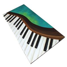 DANCING PIANO No.2 12x24 Acrylic Canvas Home Decor Wall by nJoyArt