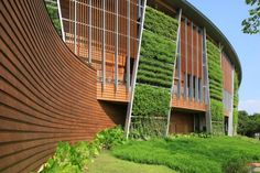 Image 1 of 26 from gallery of Taipei Flora Expo Pavilions / Bio-architecture Formosana. Photograph by Bio-architecture formosana Architecture Design, Tropical Architecture, Pavilion Architecture, Chinese Architecture, Facade Design, Sustainable Architecture, Sustainable Design, Landscape Architecture, Residential Architecture