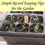 Simple Record Keeping for the Garden with Printable Seed Starting Chart
