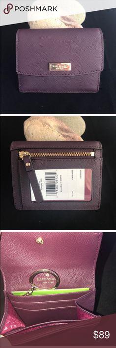 Kate Spade Petty Laurel Way Mahogany Card Case NWT Kate Spade Petty Laurel Way Mahogany Card Case NWT. No trades. kate spade Accessories Key & Card Holders