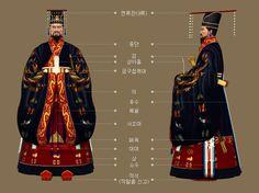 Goryeo Dynasty(AD918-1392) Korean traditional clothes #hanbok 황태자(皇太子)의 제복(祭服) - 문화콘텐츠닷컴