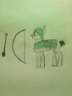The Green arrow my little pony by Miranda ♥