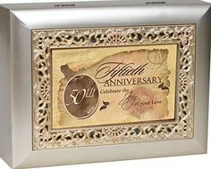 Cottage Garden Music Box - 50Th Anniversary Plays Unchained Melody With Ornate Champaign Silver Finish ** You can find more details by visiting the image link.