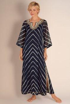 Cabo Caftan - Tie Dye Caftan, Chiffon Caftan, Beaded Caftan Dress   Soft Surroundings