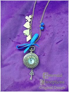 Never be late again pocket watch necklace - Emerald Inceptions