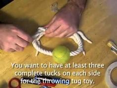 How to make a throwing tug toy for your dog