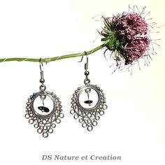 Fashion jewelry tourmaline silver earrings by DSNatureetCreation www.etsy.com/listing/235877711/fashion-jewelry-tourmaline-silver