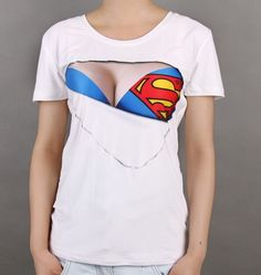 040a252f 2015 Wholesale Women Blank White 3D bra Sexy Fashion Short Sleeve T Shirt