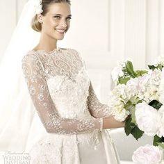 elie by elie saab 2013 pronovias monet long sleeve wedding gown
