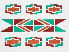 Wall To Wall Stencils - Stencil Details for Southwestern Design - qcp297
