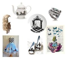 """""""Alice"""" by sugarloaf626 ❤ liked on Polyvore featuring Melissa, Eleanor Stuart and Mrs Moore's Vintage Store"""
