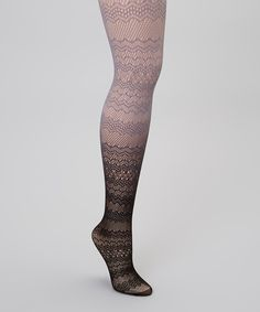 Love this Eye Candy Black & Gray Ombre Fishnet Tights by Eye Candy on #zulily! #zulilyfinds