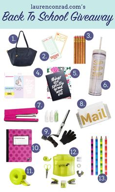 LaurenConrad.com's Back to School Giveaway!