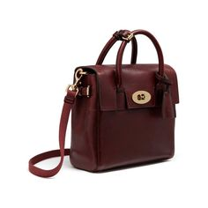 Mini Cara Delevingne Bag in Oxblood Natural Leather | Cara Delevingne Collection | Mulberry