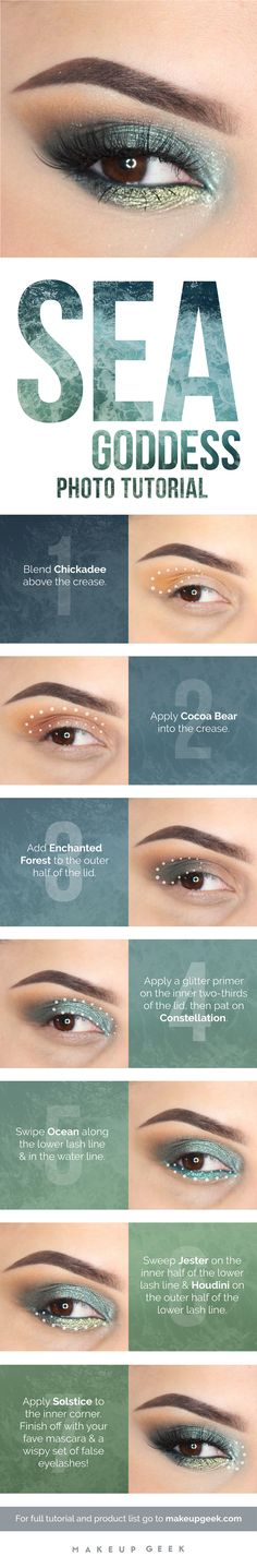Sea goddess makeup tutorial #beauty