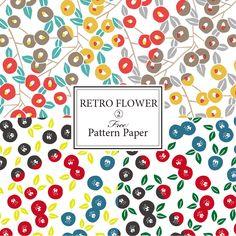 和風レトロフラワーのラッピングペーパー(包装紙)無料印刷素材 Japan Design, Web Design, Graphic Design, Rapping Paper, Retro Flowers, Beautiful Patterns, Pattern Paper, Textile Design, Branding Design