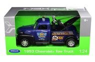 1953 Chevrolet Tow Truck Wrecker Blue 1/24 Scale Diecast Car Model By Welly 22086