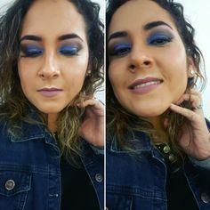 Maquillaje en tonos azules-Palette JH de Morphe.