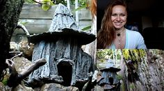 Idea for recycle plastic bottles and old t shirts for production Witch C. Use bottle tops for turrets and make a fairy castle. Plastic Bottle House, Recycle Plastic Bottles, Fairy Garden Houses, Fairy Gardens, Mini Gardens, Witches Castle, Portland Cement, Fairy Furniture, Gnome House
