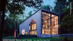 """Use hashtag #saturdayrecycling 4 #greenideas They could inspire someone Architect ADAM KALKIN's iconic """"Bunny Lane"""" house in Bernardsville, NJ.  Kalkin is a #NewJersey architect and artist who has used #shippingcontainers (gigantic #shippingcrates) to #design luxurious #homes, museum additions and refugee housing and outfitting them into modern residences. Bunny Lane's #interiordesign was by #American #legend Albert Hadley a mix of modern and traditional used throughout. #Gabriella #Ruggieri"""