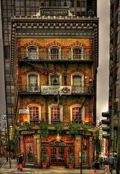 "steampunktendencies: ""  Built in 1864, The Albert was named in honour of Queen Victoria's husband, the prince consort.The pub, located in Westminster at 52 Victoria Street in London, England. - Photo: Michael Marsh """